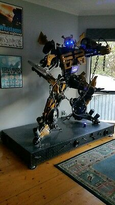 Huge Metal BUMBLE BEE Transformer 7ft tall - one of a kind!