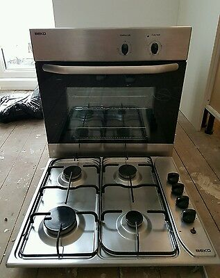 Beko single electric fan oven and gas hob