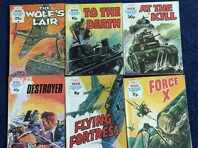 6 very good condition War picture library comics