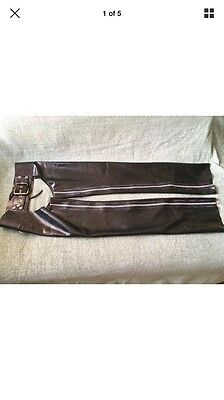Mens Rubber Latex Chaps Invincible Gay Interest Trousers Leather