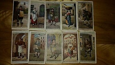 full set of players cries of london 2nd series cigarette cards