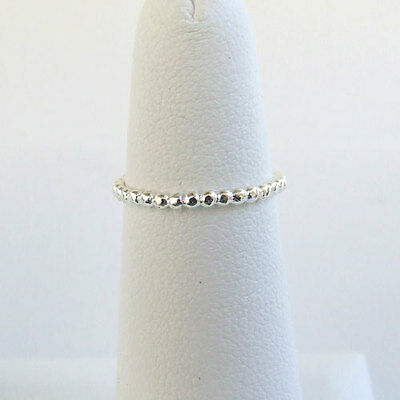 ❁  Sterling 925 Silver Stretch Bead Toe Ring Comfy! New ❁