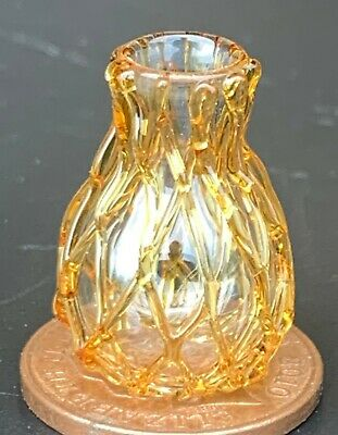 1:12 Scale Glass Vase Tumdee Dolls House Miniature Flower Ornament G413