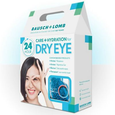 Bausch Lomb Dry Eye Kit Biotrue Lid Wipes Therapearl Eye Mask Artelac 24h KIT