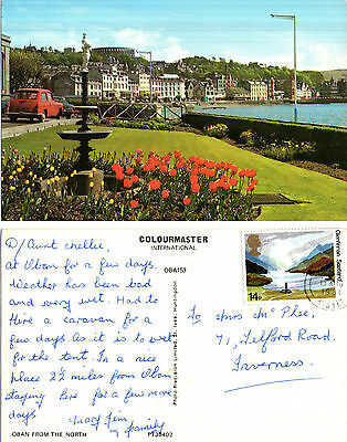 1980's OBAN FROM THE NORTH ARGYLLSHIRE SCOTLAND COLOUR POSTCARD