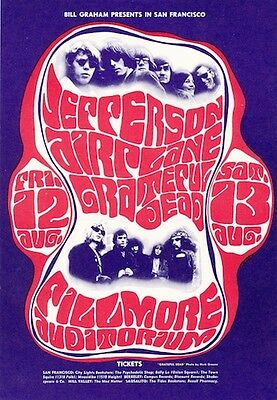 MINT Grateful Dead Jefferson Airplane 1966 BG 23 Fillmore Card