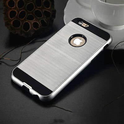 Anti-shock Hard Back Silver Hybrid Armor Case Cover For Iphone 6 Plus [mc7
