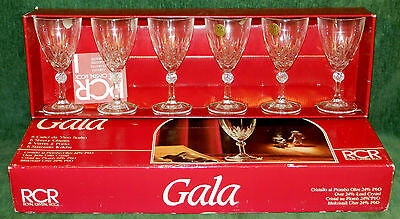 Set 6 Crystal Wine Goblets Glasses - GALA by RCR Royal Crystal Rock