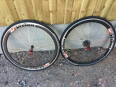 Vision T42 700c 10 Speed Alloy/carbon Clincher Wheelset