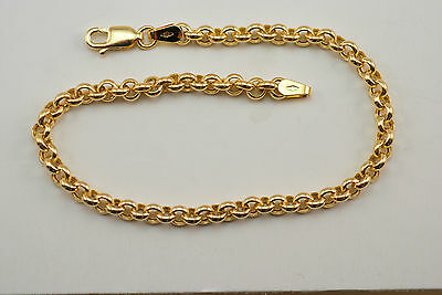 14K gold ladies rolo bracelet