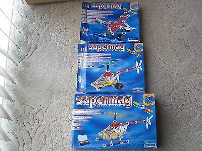 Three Supermag Sets - Aviation Theme - Opened Complete - Job Lot Bargain