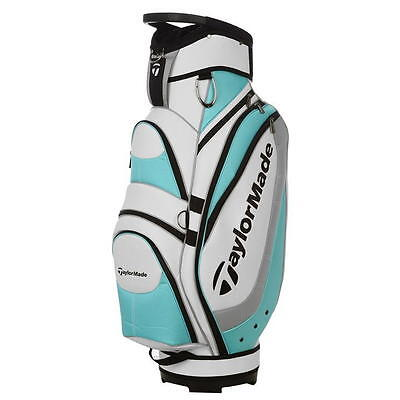 TaylorMade Monaco Pro Tour Golf Cart Carry Staff Bag 2017 Blue White NEW