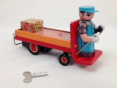 Vintage Collectable Platform Truck Tin Wind-Up Toy, #291