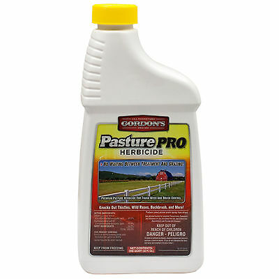 Pasture Pro Herbicide 1 QT Herbicide For Pastures & Lawns Eliminates 125+ Weeds