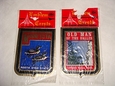 Emblem Crests Stickers,Minnesota, Old Man Of The Dalles