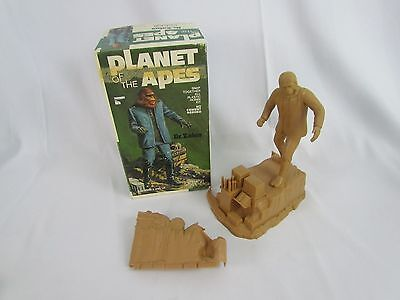 1973 Complete Dr. Zaius Planet of the Apes Addar Model Kit Partially Built w Box