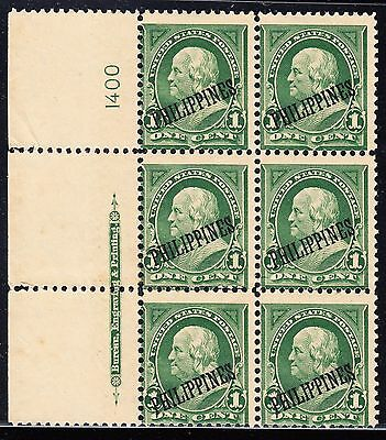 Philippines #213 F-Vf Tropical Gum Plate #1400 With Imprint Cv $225 Bt5776