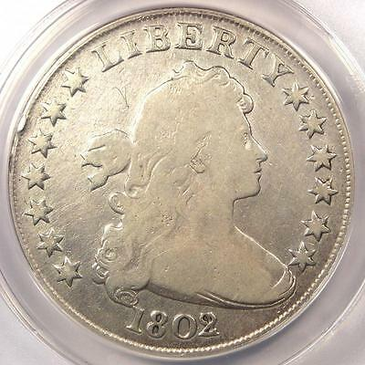 1802/1 Draped Bust Silver Dollar $1 Coin - Certified ANACS VG8 Details - Rare!