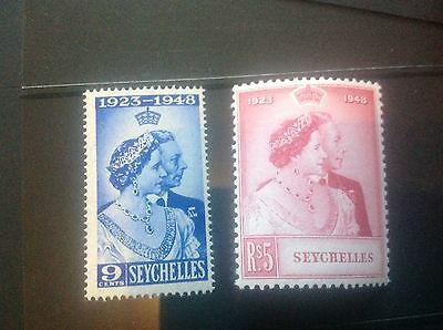 1948 Seychelles commonwealth silver wedding set UMM
