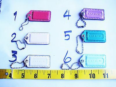 Coach leather purse handbag hangtag charm keychain