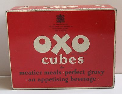 Vintage OXO Cubes Tin With Chef Image