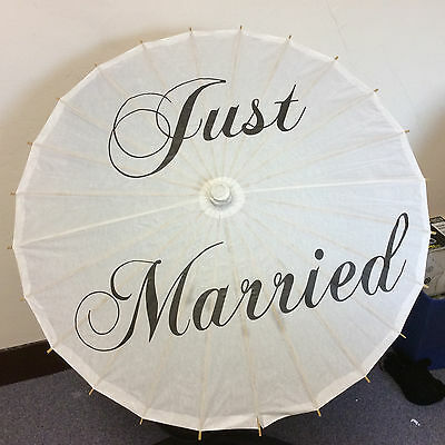 White Paper Parsol Just Married