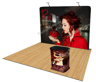 Trade show Waveline straight Display booth 10ft fabric tension Pop-up