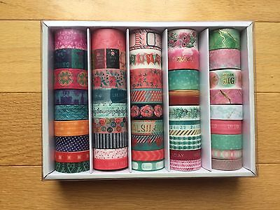 Brand New 45 Rolls Planner Accessory Washi Tape Box By Recollections