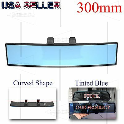 For Usa Cars Convex 300Mm Interior Rear View Mirror Rectangular Blue Tinted Lens