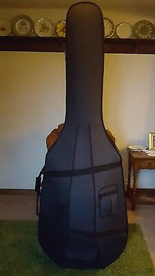 Full Size Hard Protective Double Bass Case Light Weight Back Pack