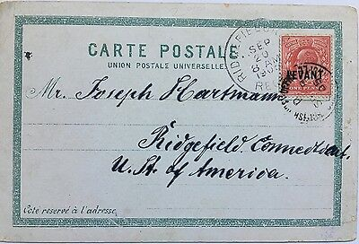 British Levant 1905 PPC Constantinople mailed to USA