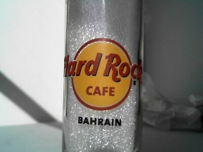 "Hard Rock Cafe BAHRAIN 4"" SHOT GLASS Classic HRC Logo BLACK Lettering"