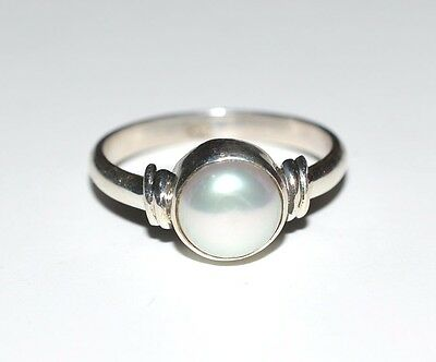 925 Solid Sterling Silver Handmade Freshwater Pearl Midi Ring Size 4-13 (US)