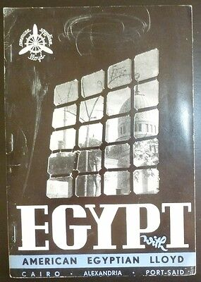 Egypt With American Egyptian Lloyd Winter 1954/55 Travel Guide Egypt Cairo