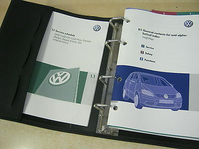 Vw Golf Plus Handbook Pack Owners Manual Wallet 2004-2008 & Service Book