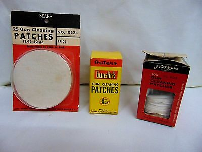 Lot of Vintage Gun Cleaning Patches-Higgins, Sears, and Outers