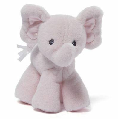 Gund  Bubbles Pink Elephant Rattle plush New Baby Gift 4048393