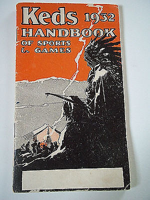 Vintage 1932 Keds Handbook  U.S. rubber company sports games 50 pages art deco!