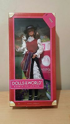 barbie passport pink label collector doll of the world chile