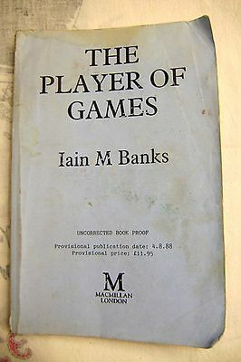The Player of Games by Iain M. Banks ,SIGNED uncorrected book proof 4/08/1988.