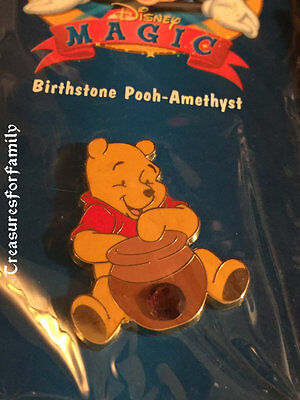 Disney Pin 12 Months of Magic Birthstone Winnie the Pooh Amethyst February