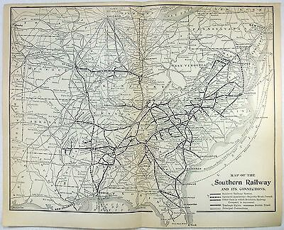 Original 1906 Map of The Southern Railway