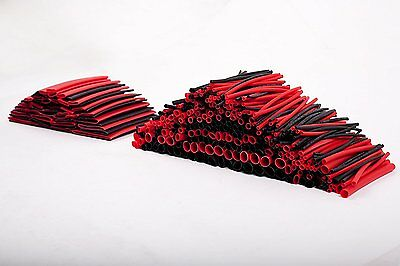 SummitLink 428 Pcs Red Black Assorted Heat Shrink Tube 10 Sizes Tubing Wrap S...