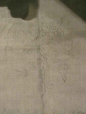 Vintage Cushion Cover to Embroider~Dahlia Pattern