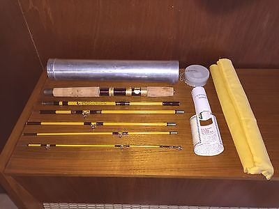 Vintage Eagle Claw Wright & McGill Trail master 6 piece Combo Rod with aluminum