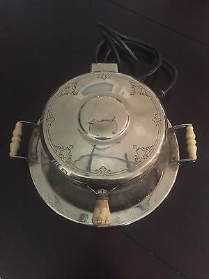 """Vintage Westinghouse """"Circle W"""" Waffle Iron Working Art Deco Made in USA"""
