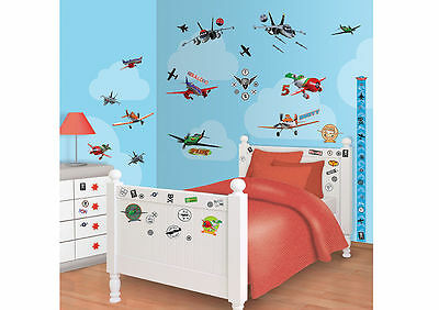 Walltastic Disney Planes Wall Stickers 65 Sticker Bedroom/ Childs & Height Chart