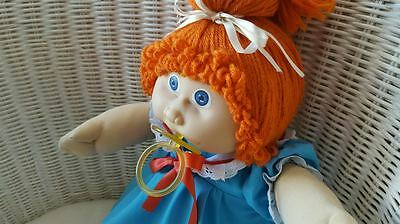 Vintage 1984 Cabbage Patch Kids Doll JESMAR PACI Girl Red Hair/Blue Eyes Clothes