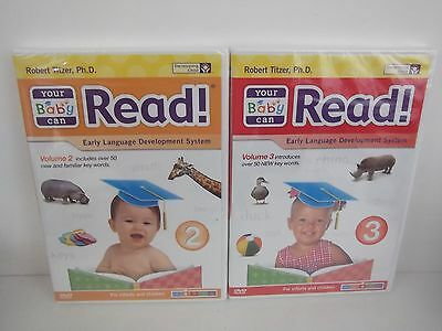 Your Baby Can Read Volume 2 and 3 DVD's NEW SEALED