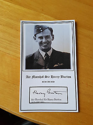 RAF Bomber Command Lancaster pilot Sir Harry Burton KCB CBE DSO signed